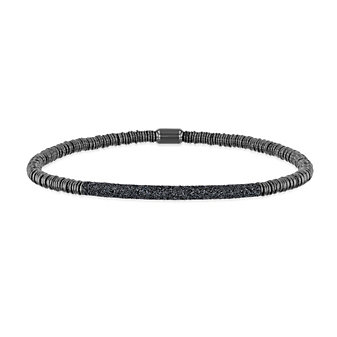 pesavento polvere di sogni twirl gray tone and silver bracelet with gray dust accent bar