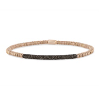 pesavento_polvere_di_sogni_rose_tone_and_silver_twirl_bracelet_with_brown_dust_accent_bar