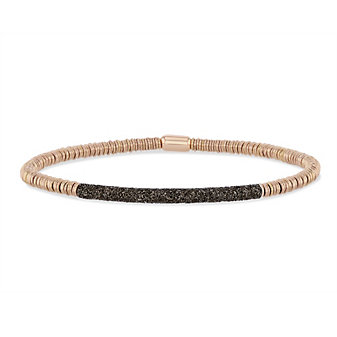 pesavento polvere di sogni rose tone and silver twirl bracelet with brown dust accent bar
