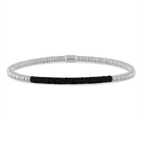 pesavento_polvere_di_sogni_silver_twirl_bracelet_with_black_dust_accent_bar