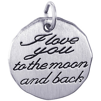 Rembrandt Sterling Silver Moon and Back Charm