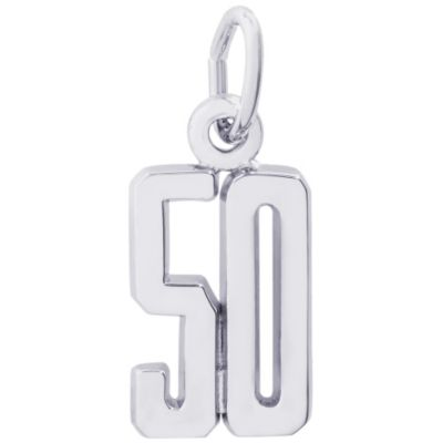 Rembrandt Sterling Silver Number Charms