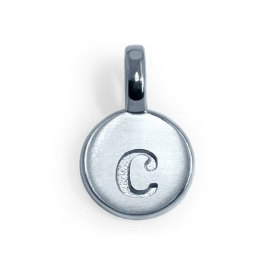 Alex Woo Sterling Silver Mini Addition Letter C Charm