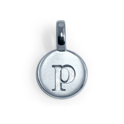 Alex Woo Sterling Silver Mini Addition Letter P Charm