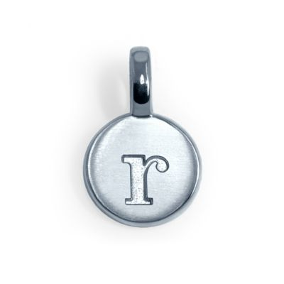 Alex Woo Sterling Silver Mini Addition Letter R Charm