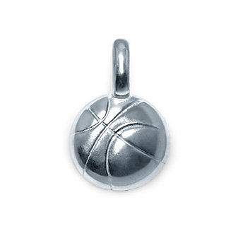 Alex Woo Sterling Silver Mini Addition Sports Basketball Charm