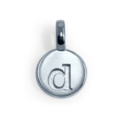 Alex Woo Sterling Silver Mini Addition Letter D Charm