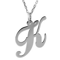 """Sterling_Silver_Medium_""""K""""_Pendant"""
