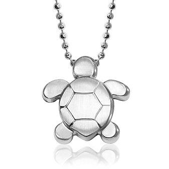Alex Woo Sterling Silver Little Seasons Sea Turtle Pendant