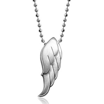 Alex Woo Sterling Silver Little Faith Wing Pendant, 16""