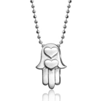Alex_Woo_Sterling_Silver_Little_Faith_Hamsa_Pendant,_16""