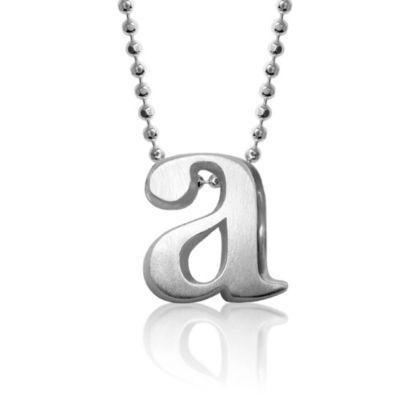 Alex Woo Sterling Silver Little Letter Pendant - A