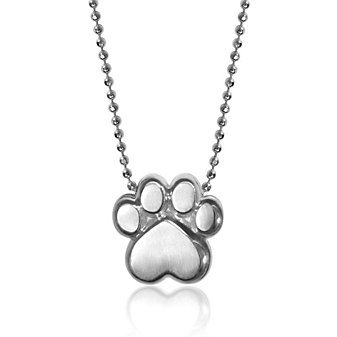 Alex Woo Sterling Silver Little Activist Paw Pendant, 16""