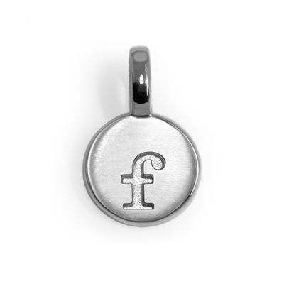 Alex Woo Sterling Silver Mini Letter Charms - F