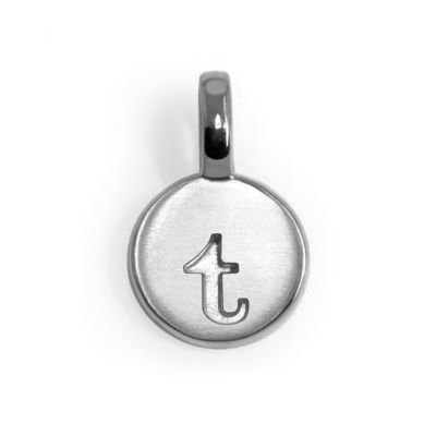 Alex Woo Sterling Silver Mini Letter Charms - T