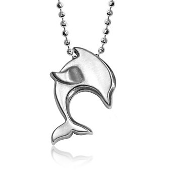 Alex Woo Sterling Silver Little Cities Dolphin Pendant