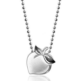 "Alex Woo Sterling Silver Little Peach Pendant, 16"""