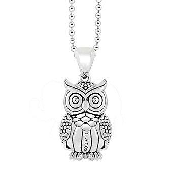 Lagos Sterling Silver Rare Wonders Owl Pendant