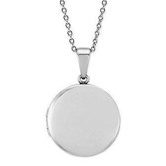 Sterling Silver Round Locket