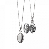 Monica_Rich_Kosann_Sterling_Silver_Petite_Pinstripe_Locket,_30""