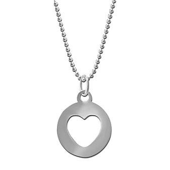 Sterling Silver Open Heart Pendant