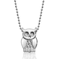Alex_Woo_Sterling_Silver_Little_Seasons_Owl_Pendant,_16""