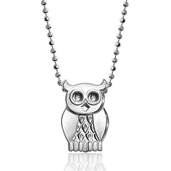 Alex Woo Sterling Silver Little Seasons Owl Pendant, 16""