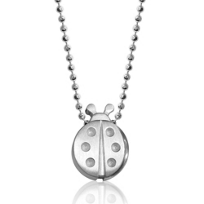 Alex_Woo_Sterling_Silver_Little_Luck_Ladybug_Pendant,_16""