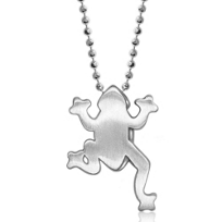 Alex_Woo_Sterling_Silver_Little_Animals_Frog_Pendant,_16""