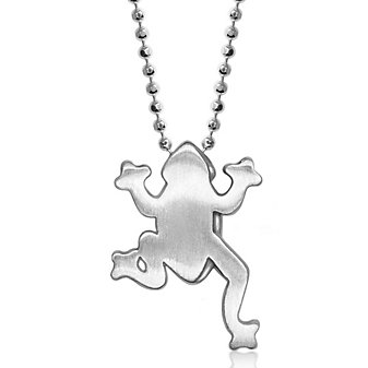 Alex Woo Sterling Silver Little Animals Frog Pendant, 16""