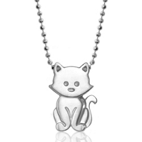 Alex_Woo_Sterling_Silver_Little_Animals_Kitten_Pendant,_16""