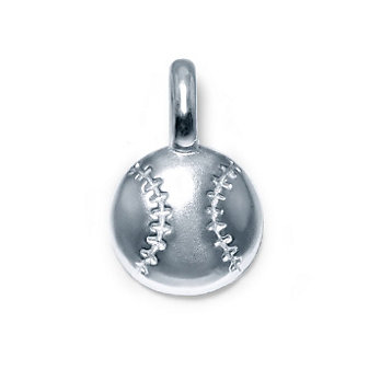 Alex Woo Sterling Silver Mini Addition Sports Baseball Charm