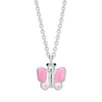 Sterling_Silver_Pink_&_White_Enamel_Butterfly_Pendant