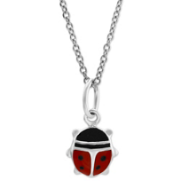Sterling_Silver_Child's_Enamel_Ladybug_Pendant
