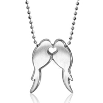 Alex_Woo_Sterling_Silver_Little_Animals_Love_Birds_Pendant,_16""