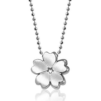 """Alex Woo Sterling Silver Little Cities Cherry Blossom Pendant, 16"""""""