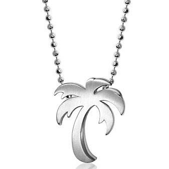 Alex Woo Sterling Silver Little Cities Palm Tree Pendant, 16""