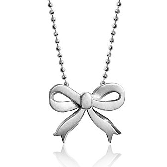 Alex Woo Sterling Silver Little Princess Bow Pendant