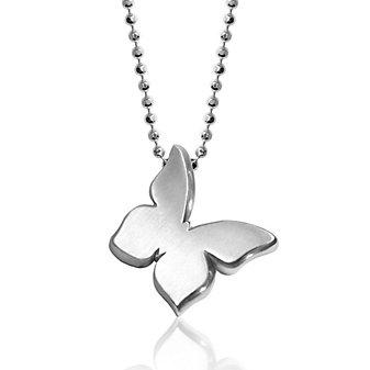 Alex Woo Sterling Silver Little Princess Butterfly Pendant