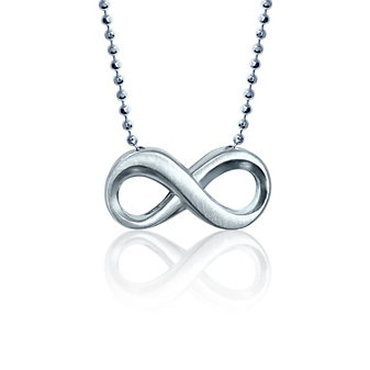 Alex Woo Sterling Silver Little Faith Infinity Pendant