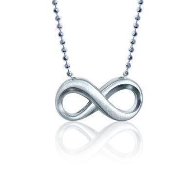 Alex Woo Sterling Silver Little Faith Infinity Pendant