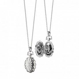 Monica Rich Kosann Sterling Silver Petite Sunburst Locket