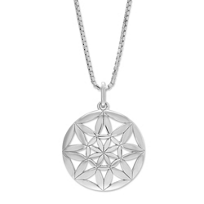 Sterling_Silver_Domed_Starburst_Pendant,_18""