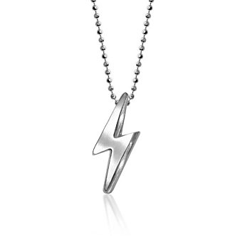 Alex Woo Sterling Silver Little Rock Star Lighning Bolt Pendant