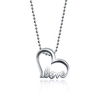 Alex Woo Little Words Love Heart Charm