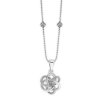 Lagos Sterling Silver Love Knot Pendant