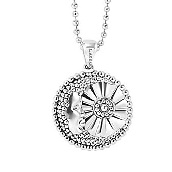 Lagos Sterling Silver Rare Wonders Moon and Star Pendant