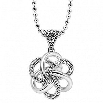 Lagos Sterling Silver Love Knot Pendant, 30""