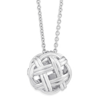 Sterling_Silver_Nautical_Knot_Pendant,_19.5""