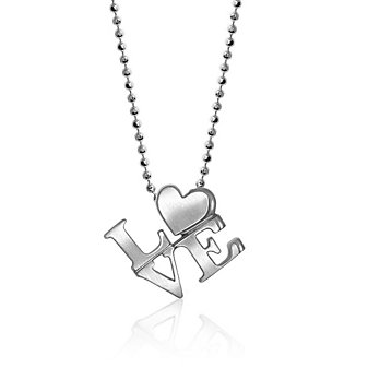 Alex Woo Sterling Silver Little Cities New York Love Pendant